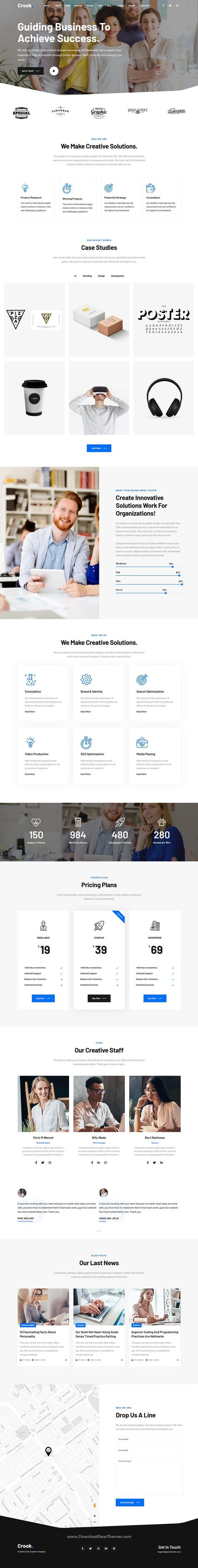 Crook - One and Multi-Page Multipurpose Template