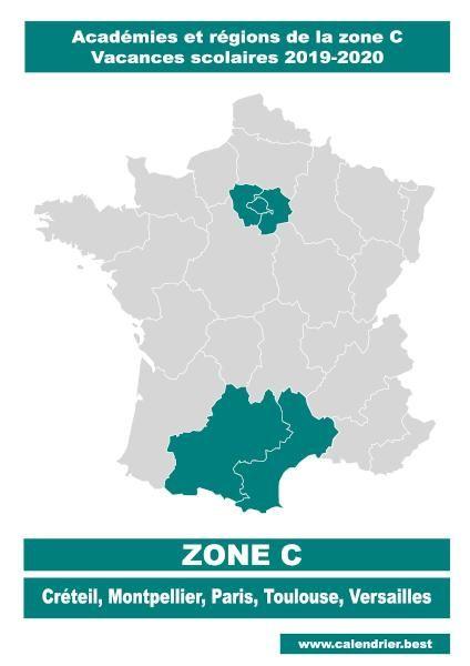 Identifier Les Vacances Scolaire De La Zone C A L Aide De Notre
