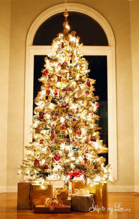 Gold Christmas Tree Michaels Dream Tree Challenge  #MichaelsMakers @skiptomyloublog
