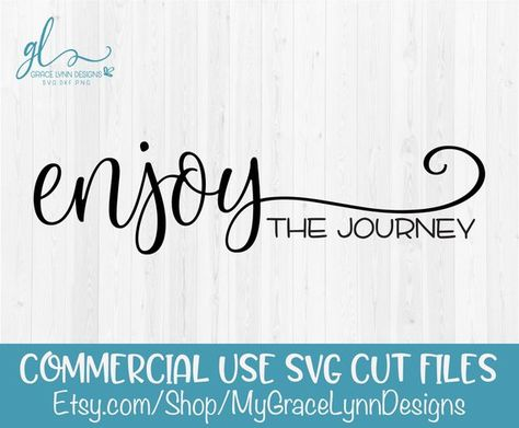 Enjoy The Journey Wood Sign Digital Cutting File Svg Dxf Png