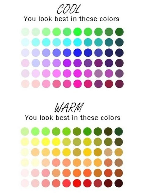 Colors for warm and cool skin tones.