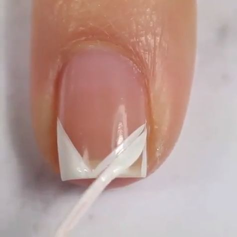 If you are looking for a cute nail design for your natural nails here is a great idea!