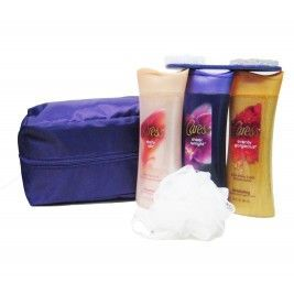 Caress Body Wash Gift Set With Travel Bag 6 Piece Caress Body Wash Body Wash Gift Set