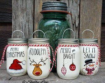 Let It Snow Hand Painted Ball Mason Jar Snowman Let It Snow In 2020 Hand Painted Decor Ball Mason Jars Jar Crafts