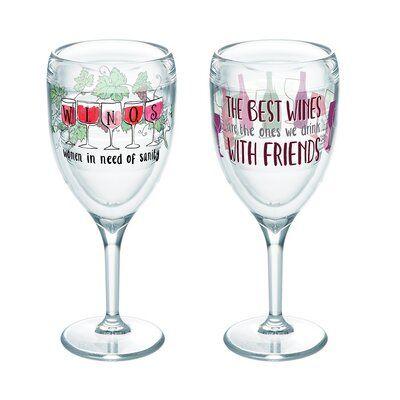9 oz. Plastic Stemless Wine