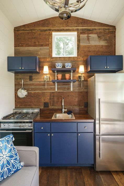 This Tiny House Breaks A Major Decorating Rule Tiny Kitchen Design Tiny House Kitchen House Design Kitchen