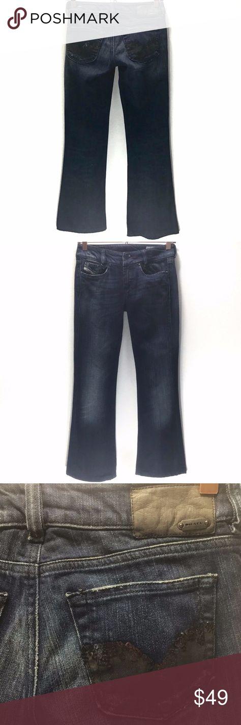 Diesel Women/'s Cherock Denim Pant Jeans Sizes 25 27