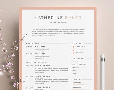Modèle De Cv Katherine Moderne Lettre De Motivation 4
