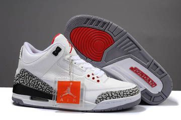 Air Jordan 3 Retro 88 White and Fire Red Cement Grey Black - Mens ... f4932857d
