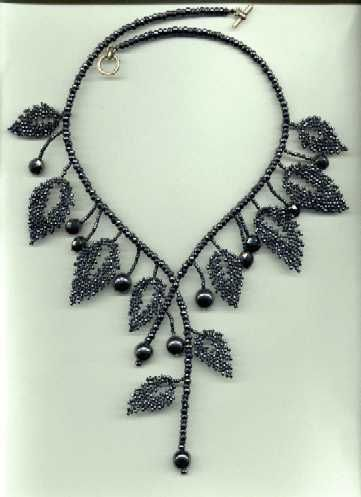 Leaves Necklace tutorial by andrea