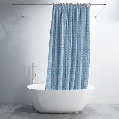 World Menagerie 71 X 74 With Pvc Liner Atasi Reverse Luxury Shower Curtain By Amrita Sen Color Blu Luxury Shower Curtain Luxury Shower Shower Curtain Sets