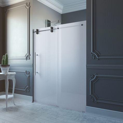vigo elan adjustable frameless sliding shower door with matte rh pinterest es