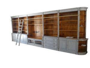 Bibliotheque Sur Mesure En Bois Massif Realise Pour Un Client Cette Bibliotheque Mesure 6 60 Bibliotheque Sur Mesure Meuble En Pin Massif Meuble Bois Massif
