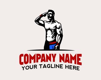 Patriot Fitness Logo Design The Logo Which Contain The Stylized Patriotic Standing Male In Shaped Body Could Fitness Logo Design Gym Name Ideas Logo Design