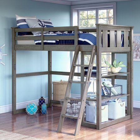 Better Homes Gardens Kane Twin Loft Bed Multiple Finishes Walmart Com Twin Loft Bed Kids Loft Beds Diy Loft Bed