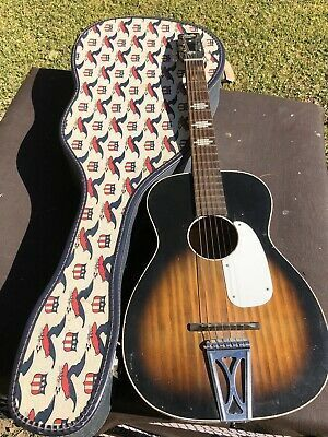 Stella Harmony Vintage Parlor Guitar With Americana Case Guitar Acoustic Guitar Acoustic