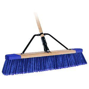 Paver Broom 24 Stiff Bristle With 5 Wood Handle Push Broom Broom Bon Tool