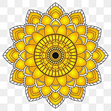 Natural Blossom Sunflower The Mandala For Beautiful Bed Clothes Background In Textile Fabric And Invitation Card For Wrapping Template Style Garden Sunshine In 2020 White Flower Background Sunflowers Background Sunflower Flower