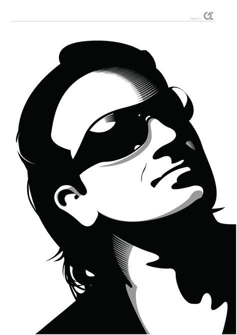 Irish Rock Legends - Bono BW by GerCasey on DeviantArt