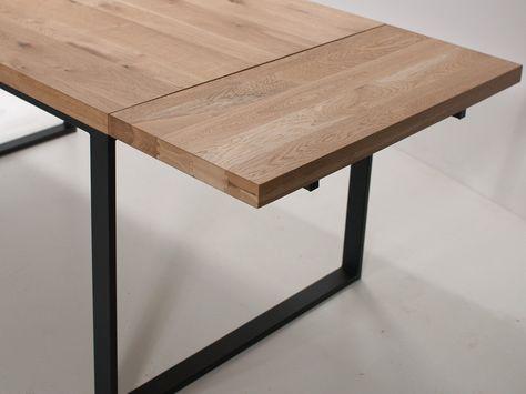 Rokładany stół industrialny z dostawkami - Wymiary 150 +( 2x 40cm - esszimmer kirchzarten