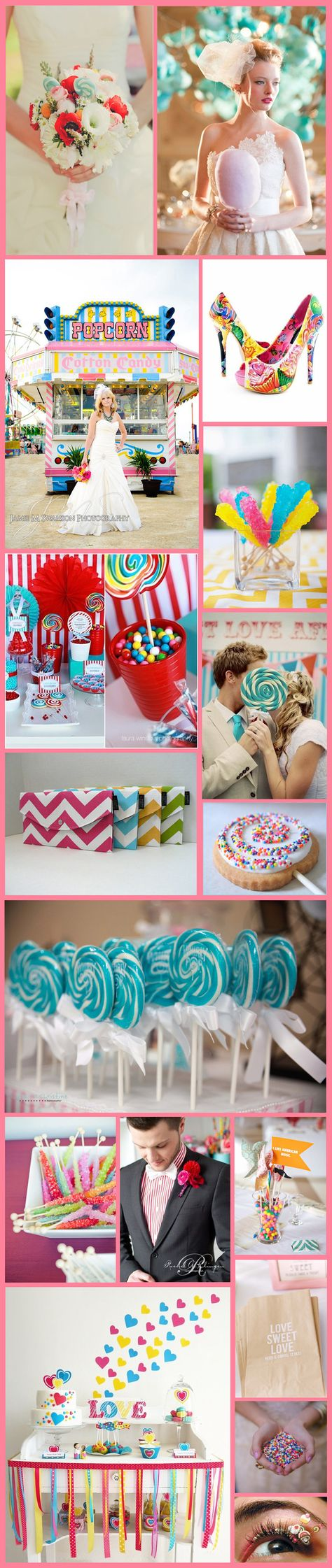 Candy Inspired Wedding Ideas #wedding #bride #weddingideas #weddingplanning #besthairsalon #indianapolis #gmichaelsalon
