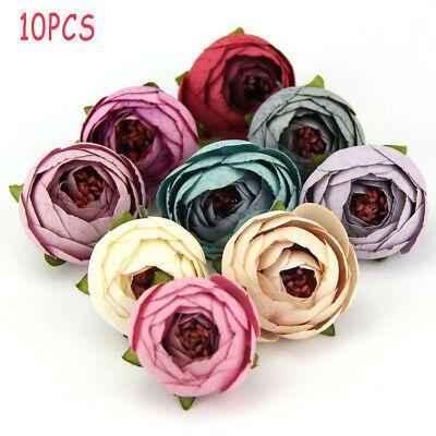 Details About Diy Wedding Decor Tea Bud Bouquet Rose Flower Head Silk Artificial Flowers Artificial Flower Bouquet