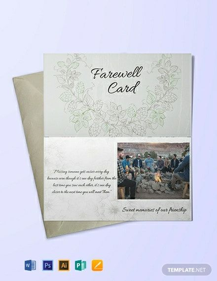 Farewell Invitation Card Template Free Pdf Word Psd Apple Pages Illustrator Publisher Farewell Invitation Card Invitation Cards Farewell Invitation