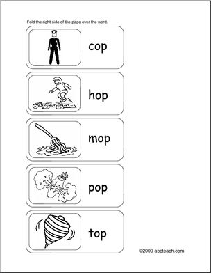 Flashcards Word Family Op Words Abcteach Word Families Words Writing Forms