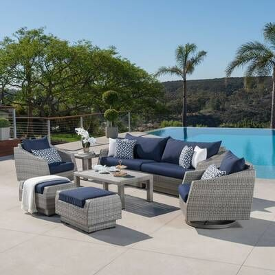 Edwards 4 Piece Rattan Sofa Seating Group With Cushions Sunbrella Sofa Seating Groups Sunbrella Cushions