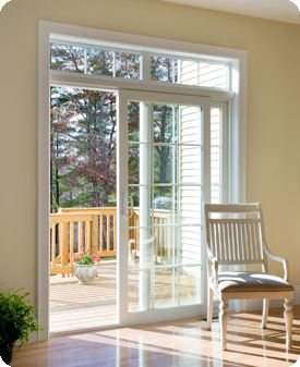 Transom Window Over Slider Gl Doors Patio French