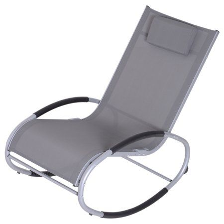 Outsunny Zero Gravity Rocking Chaise Lounge Sling Reclining Chair Walmart Com Recliner Chair Chaise Lounge Recliner