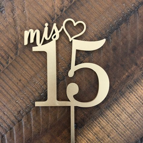New products always being added to our shop weekly! Like this Mis 15 cake topper perfect for quinceñeras! #quincenera #caketopper #ngocreations #partyideas #turning15 #mis15