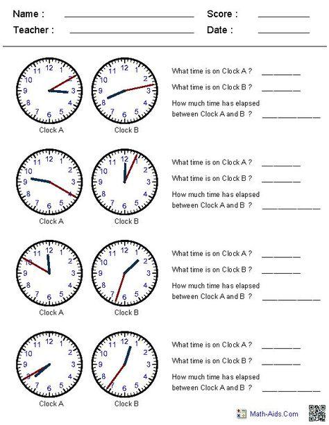 time worksheets telling time Pinterest Math worksheets - time worksheets