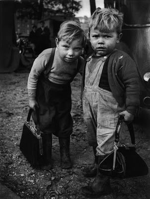 Love old photographs. {two little boys with purses}