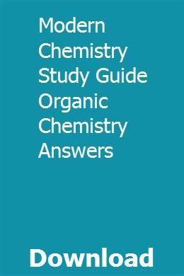 Modern Chemistry Study Guide Organic Chemistry Answers