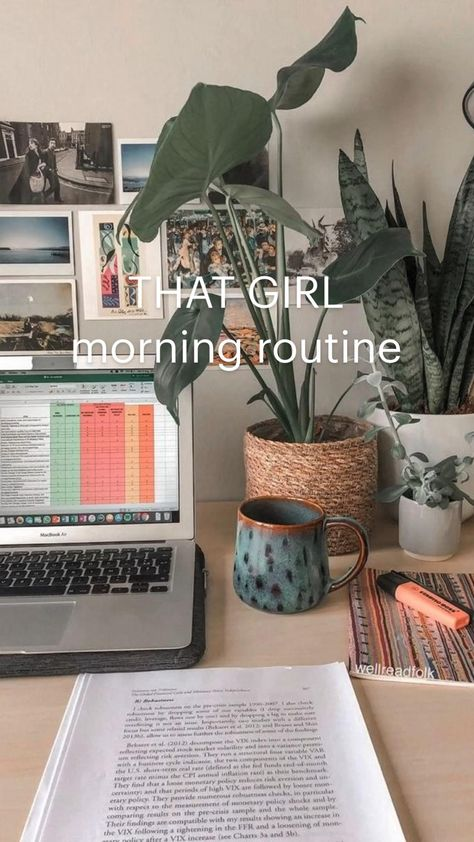 THAT GIRL morning routine