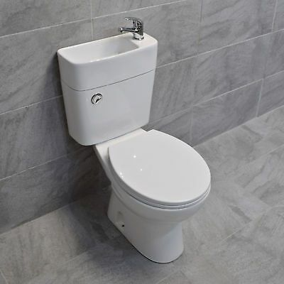 Duo Combination Toilet Basin Unit Close Coupled Toilet With