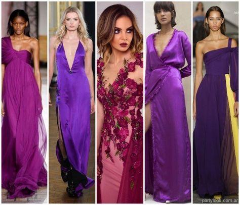 Vestidos noche de fiesta ultra violeta verano 2019   Vestidos verano 2019 - fotos