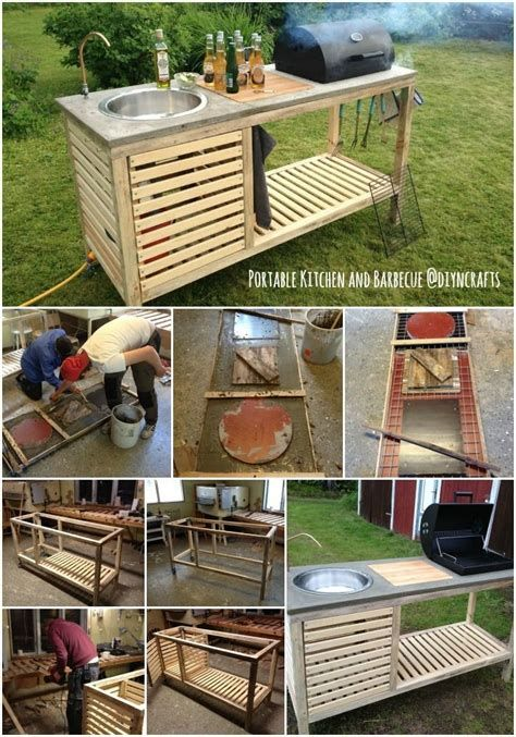 55 Unique Outdoor Kitchen Ideas Outdoor Projects Diy Outdoor Portable Kitchen