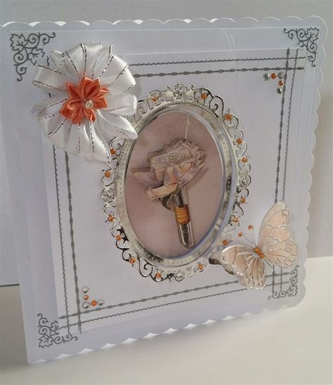 ** Angels on Wreath ** for cards//crafts Beautiful Anitas A4 Foiled Decoupage