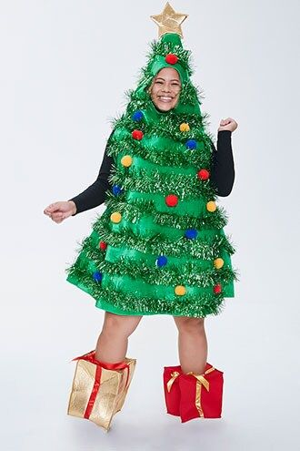 Plus Size Christmas Tree Dress Forever 21 In 2020 Christmas Tree Dress Tree Dress Knit Mini Dress