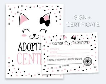 Kitty Adoption Bundle Pet Adoption Center Full Pack Pink Black