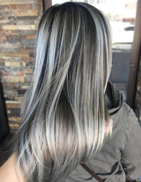 Ash Grey Hair Color Ideas For Spring Season 2018 Fashionsfield Brown Hair With Ash Blonde Highlights Ash Blonde Highlights Dark Hair With Highlights