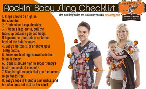 577651a47b2 Rockin  Baby Sling Checklist