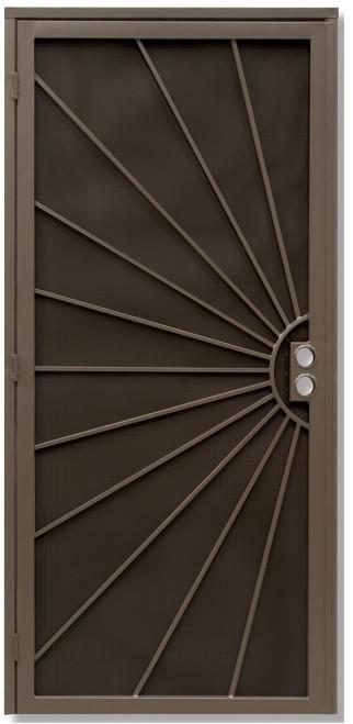 Sunburst Security Door Security Screen Door Security Door Steel Security Doors