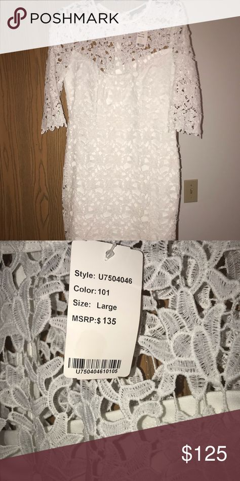 6b80fe8da4 White Lace Dress Brand New Only Tried on Bought for my wedding but ended up  going with something else Brand New Absolutely Stunning Dress on Comes to  my ...