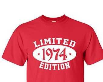 1974 Limited Edition 40th Birthday Party Shirt 40 Years Old