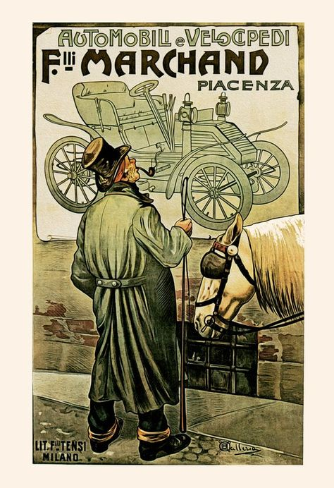 POSTER FRENCH AUTOMOBILES BRASIER FOUR LEAVES CLOVER VINTAGE REPRO FREE S//H