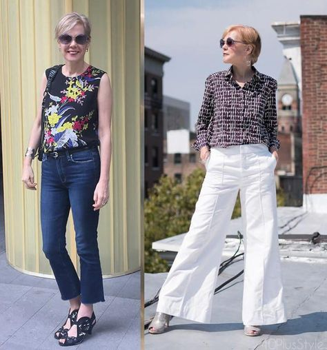 How to dress after 40 and still look hip? Some dressing tips for women over 40 #womensfashionover40whiteblouses