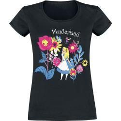 Damenfanshirts Alice im Wunderland Butterflies And T-ShirtEmp.